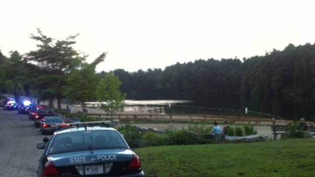 Rescue crews searching for swimmer in Houghton Pond in Milton