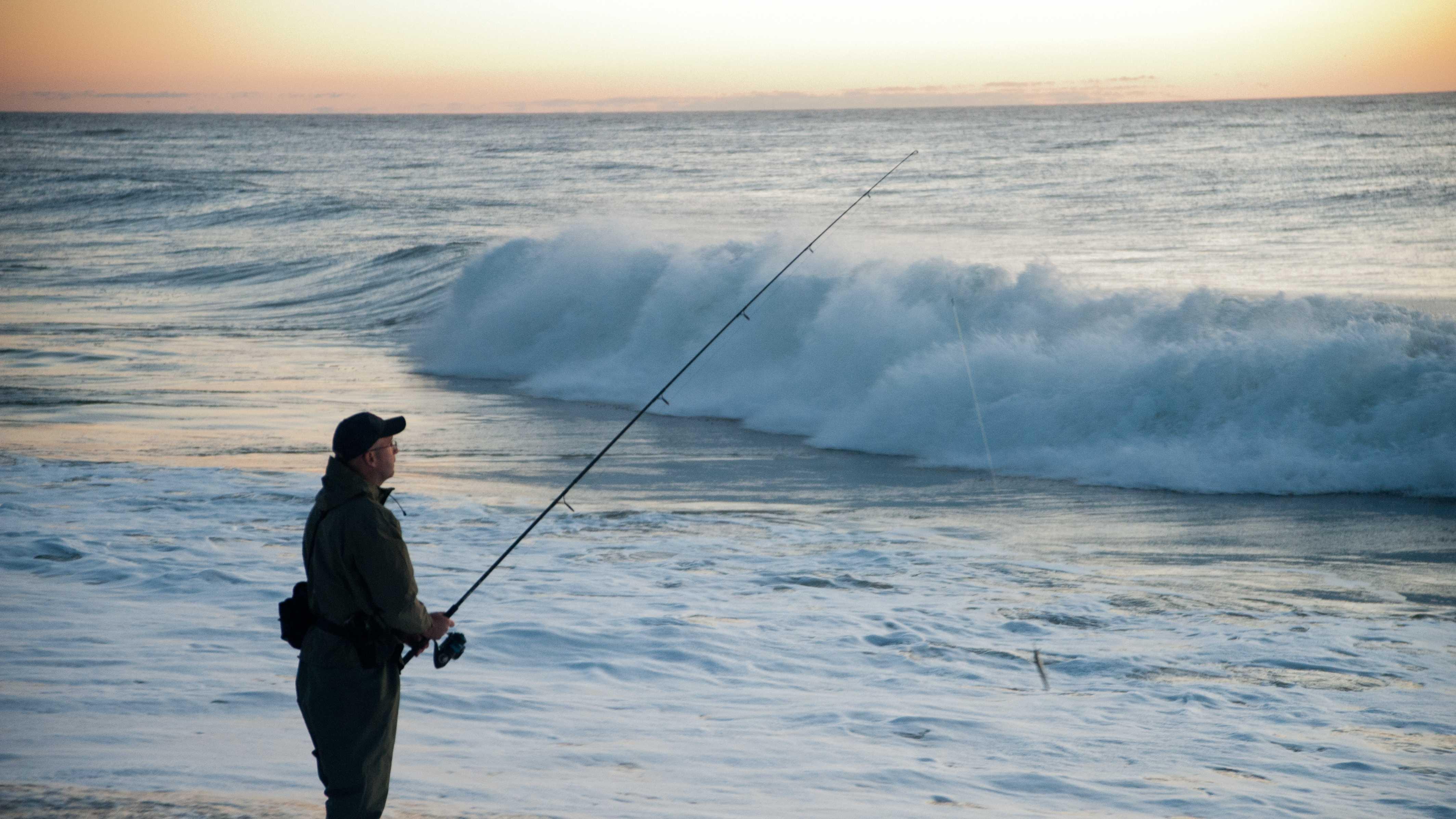 Beach, fishing