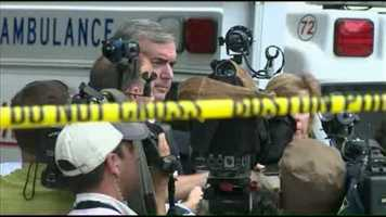Police Commissioner Ed Davis said the suspect suffered critical injuries.
