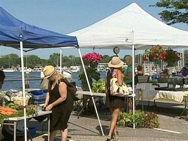 This summer farmers market has a unique location: the harbor.