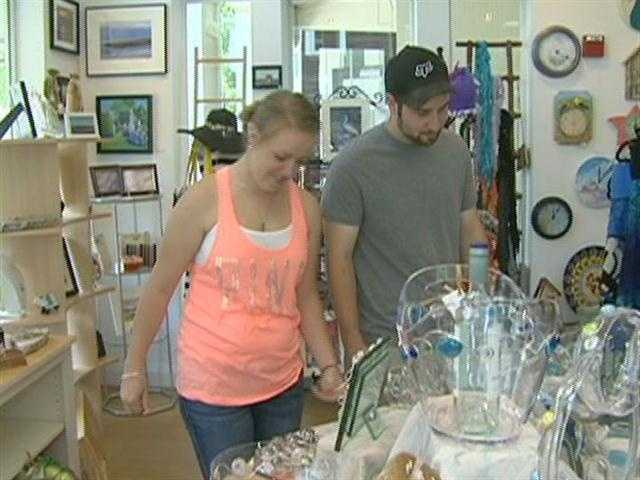 Expressions Gallery, on Front Street, is a cooperative, featuring the work of 15  artists and crafts people.