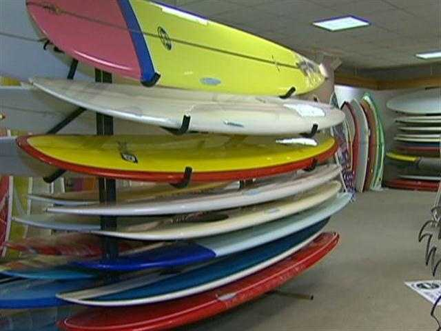 Customers who came as kids are now bringing their kids for a first surfboard.