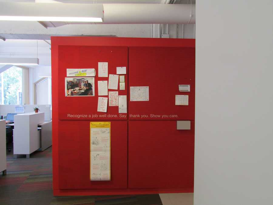 A clean and bright work environment helps Staples with its innovations.
