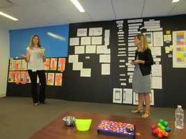 Beth Beiriger and Kim Lanoue are making sure the new mobile app has bigger text