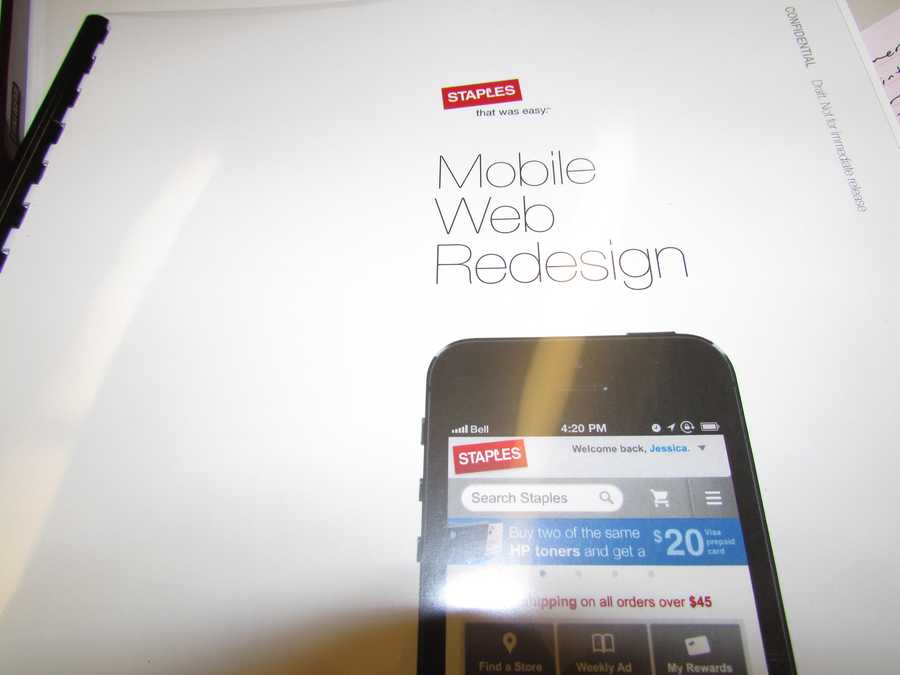 mStaples.com, the mobile website, first rolled out in June of 2010. The first smartphone app rolled out a few months later.