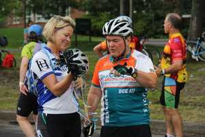 NewsCenter 5 anchors Ed Harding and Heather Unruh were riding in the two day bike event.