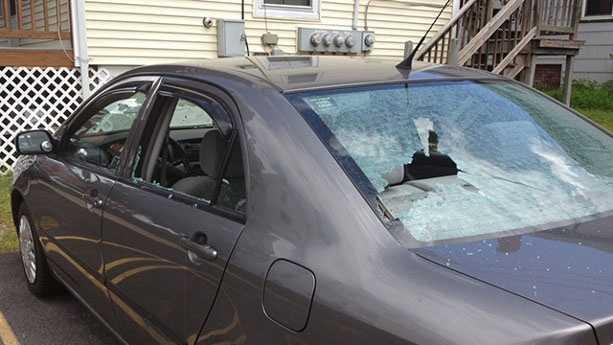 Damaged Manchester car