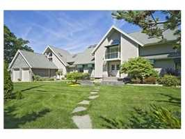 The home sits on more than 1 acre.