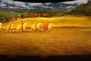 Each scene has different lighting.