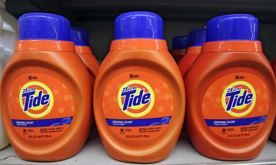 Thieves can sell the detergent back to stores for significantly cheaper than Tide's maker.