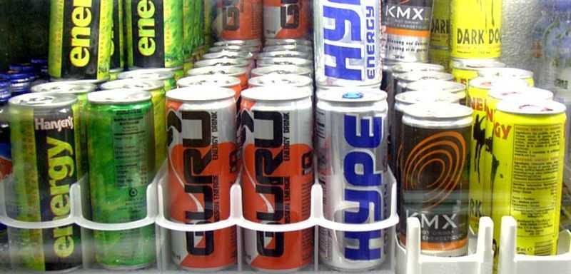 6.) Energy drinks