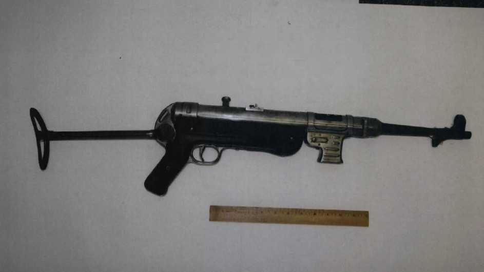 Bulger Machine gun exhibit