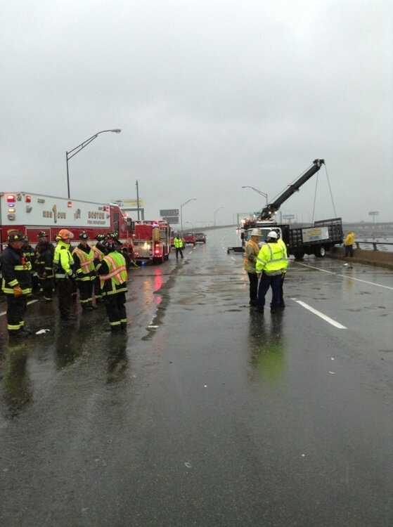 One of the northbound lanes reopened at about 2:55 p.m.