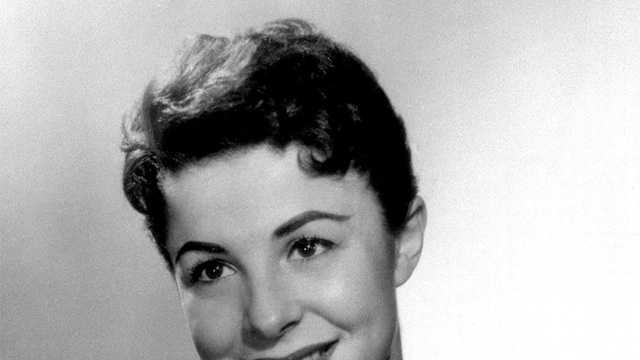 This 1956 file photo shows Eydie Gorme. Gorme, a popular nightclub and television singer as a solo act and as a team with husband Steve Lawrence.