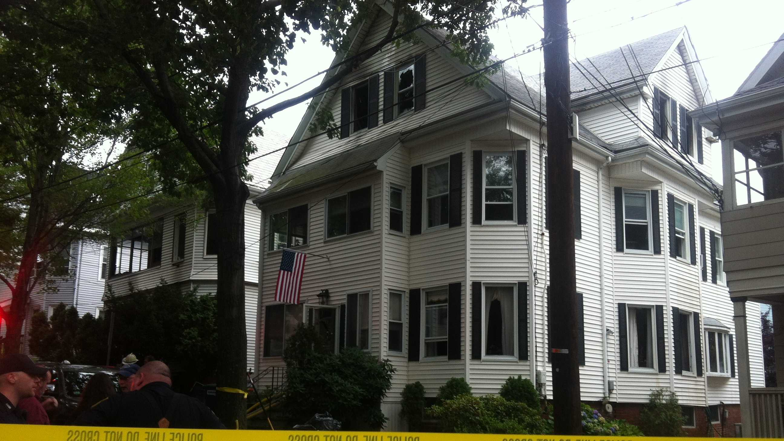 A fire tore through a Somerville home early Tuesday morning.