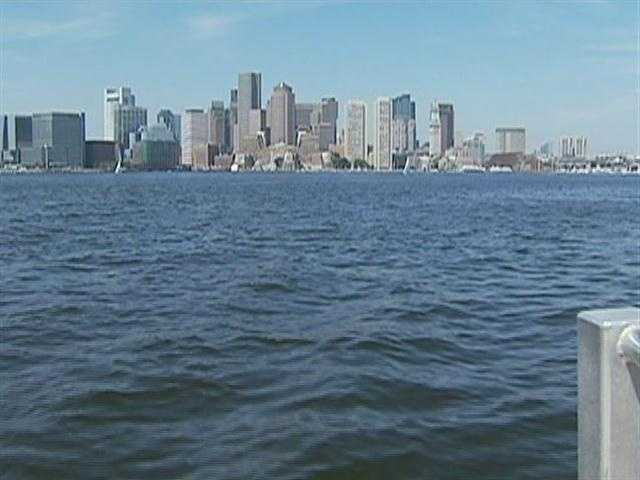 The best views of Boston are from the water.