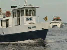 Boston Harbor Cruises also runs the Hingham, Quincy, and Charlestown ferries for the MBTA.