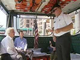 The ride includes a mini-tour, courtesy of Captain Ken Bradley.