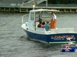 Captain Carli has ten traps on a recreational license in East Boston.
