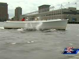 """The boat is a 24-seat harbor launch, named """"Precious Time."""""""
