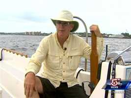 """Owner Don Benoit says,""""Its named 'Precious Time' because all time on the water is precious."""""""