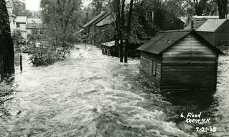 Flooding on Beaver Street in Keene.