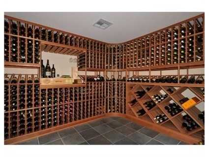 The wine cellar has room for 1,400 bottles.