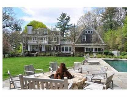 This classic, turn-of-the-century home is shingle-style.