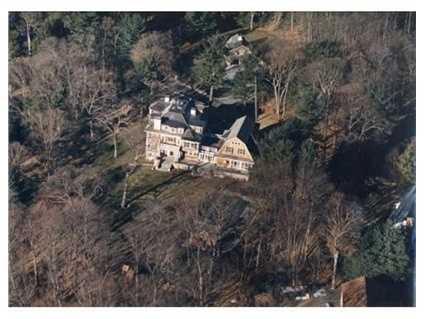 A bird's eye view of the property.