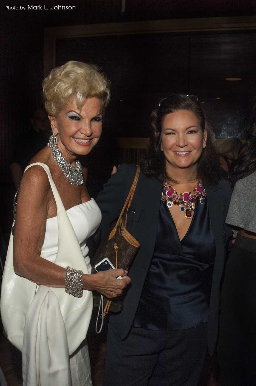 Sondra poses with her mom, the legendary bridal fashionista Yolanda!