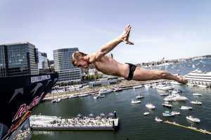 13 of the world's best cliff divers spent the weekend in Boston, looking to wow the judges and the crowd with their routine.