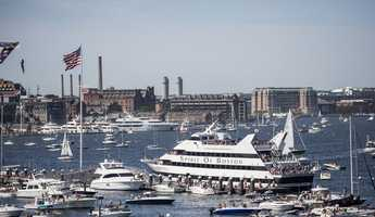 According to officials, the divers reach several feet under Boston Harbor, where water temperatures are only in the mid 40s.