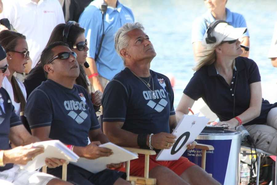 Four-time Olympic Gold medalist Greg Louganis was also a member of the judging panel.