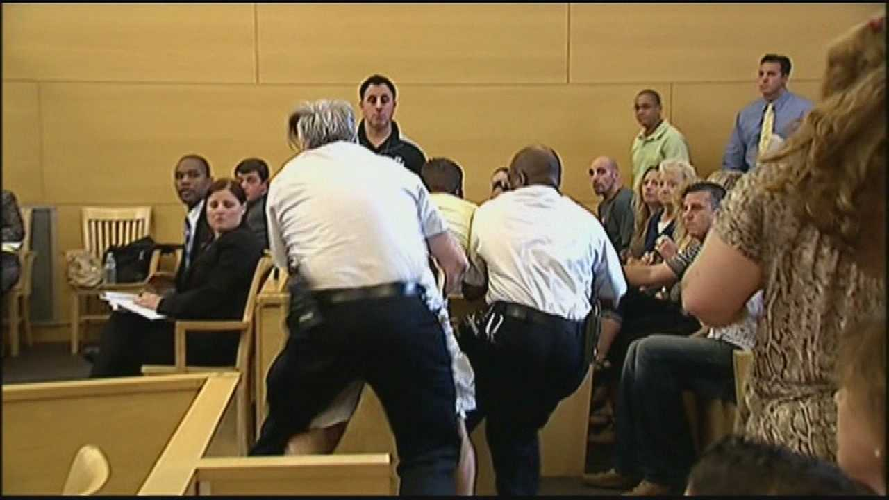 Courtroom chaos as prosecutor says man stabbed 69 times
