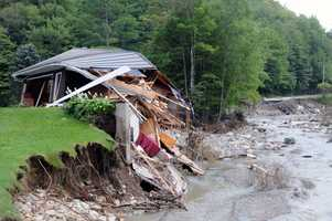 Brian Halligan's Pittsfield, Vt., home was destroyed by floods that followed Hurricane Irene. Halligan said Sept. 2, 2011.