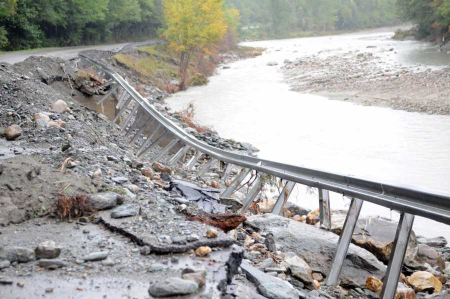 The aftermath of Hurricane Irene in Central Vermont, seen on Sept. 5, 2011.