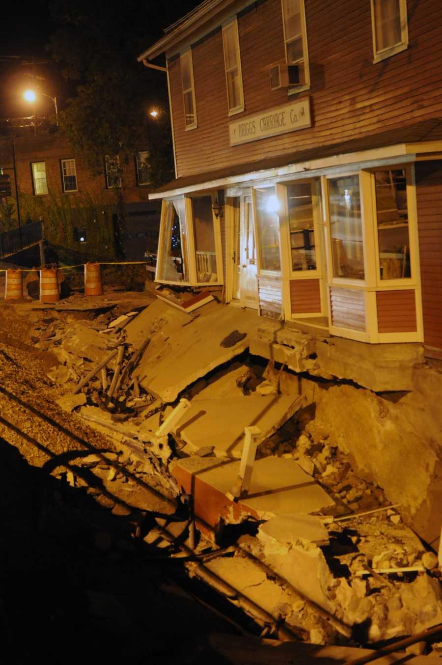 Damage in Brandon, Vt., after Hurricane Irene, seen on Sept. 2, 2011.
