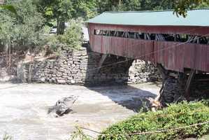 Taftsville Covered Bridge in Taftsville, Vt.