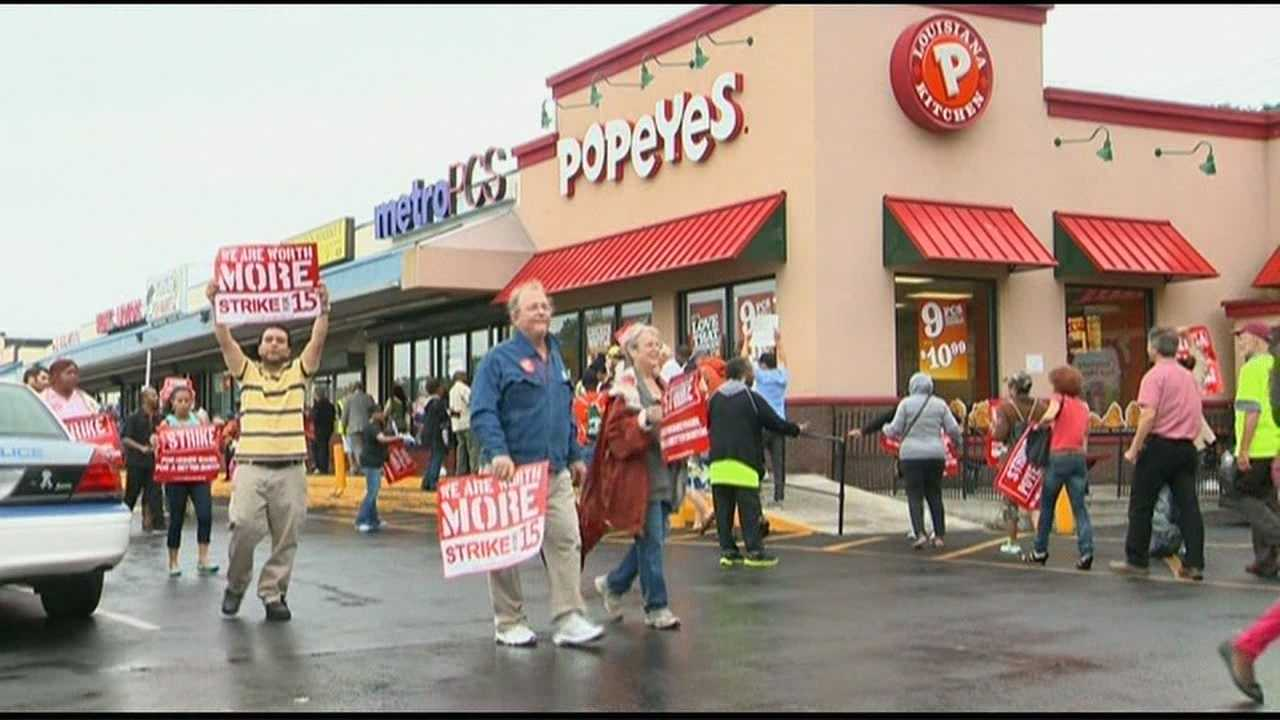 Boston fast food workers stage protest