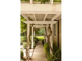 The home is professionally landscaped.