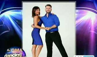Jack Osbourne dancing with Cheryl Burke