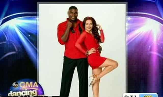 Keyshawn Johnson, former NFL star, dancing with Sharna Burgess