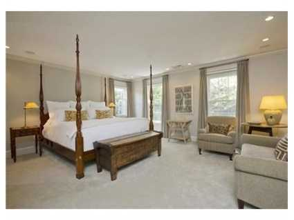 The master bedroom has a massive dressing area.