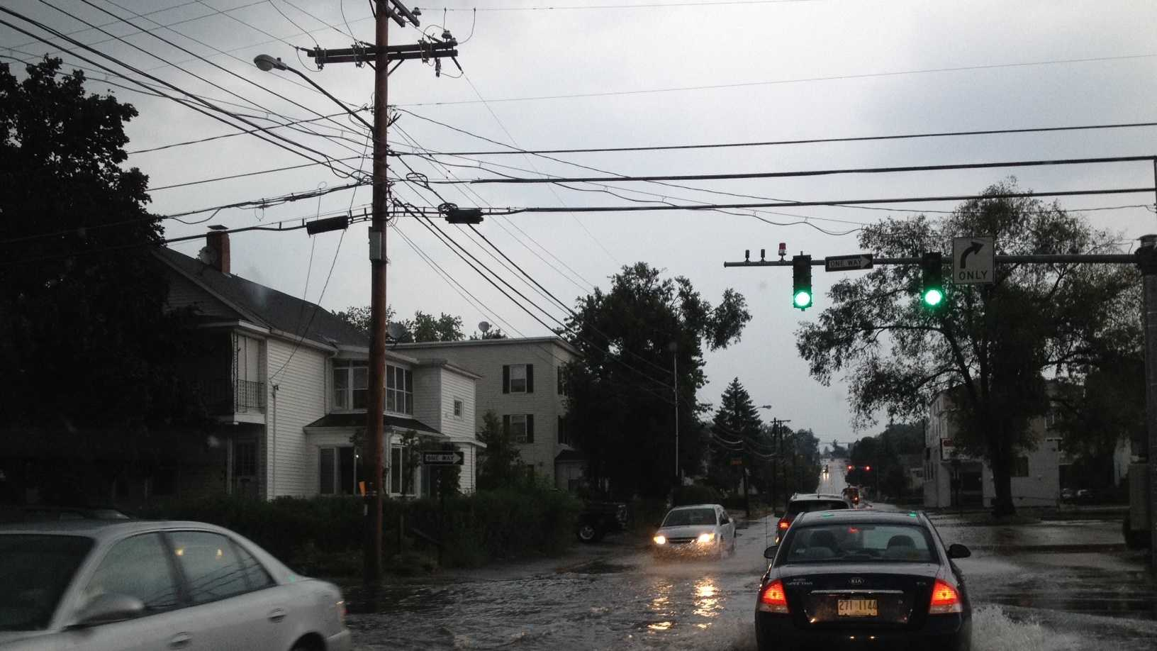 Street flooding on Beech and Cilley
