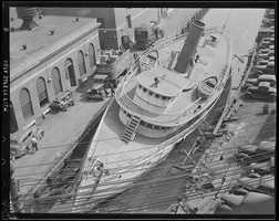 "The steamer ""Monhegan"" sinks in Providence."