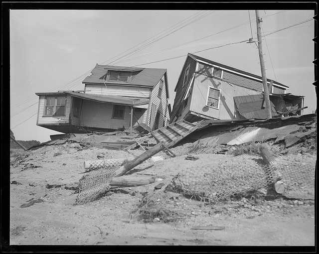 Coastal communities were slammed both by the storms winds and surge.