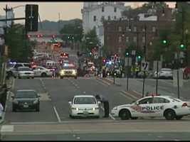 Police and federal agents from multiple law enforcement agencies responded to the scene. Ambulances were parked outside, streets in the area were closed.