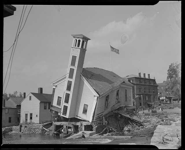 In Ware, residents were stranded for days and relied on air-dropped food and medicine. This is what remained of the Ware Fire Dept.