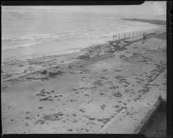 Another view of the heavily damaged seawall in Winthrop.