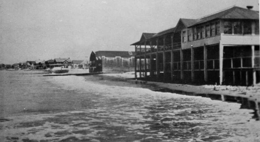 A view of Fort Road in Watch Hill, R.I., at Napatree Point. 42 cottages were wiped off the beach as was the bathing pavilion of the Watch Hill Beach Club.The Blue Hill Observatory is hosting a commemorative event on the Hurricane of 1938 on Sept. 21. Click here for details